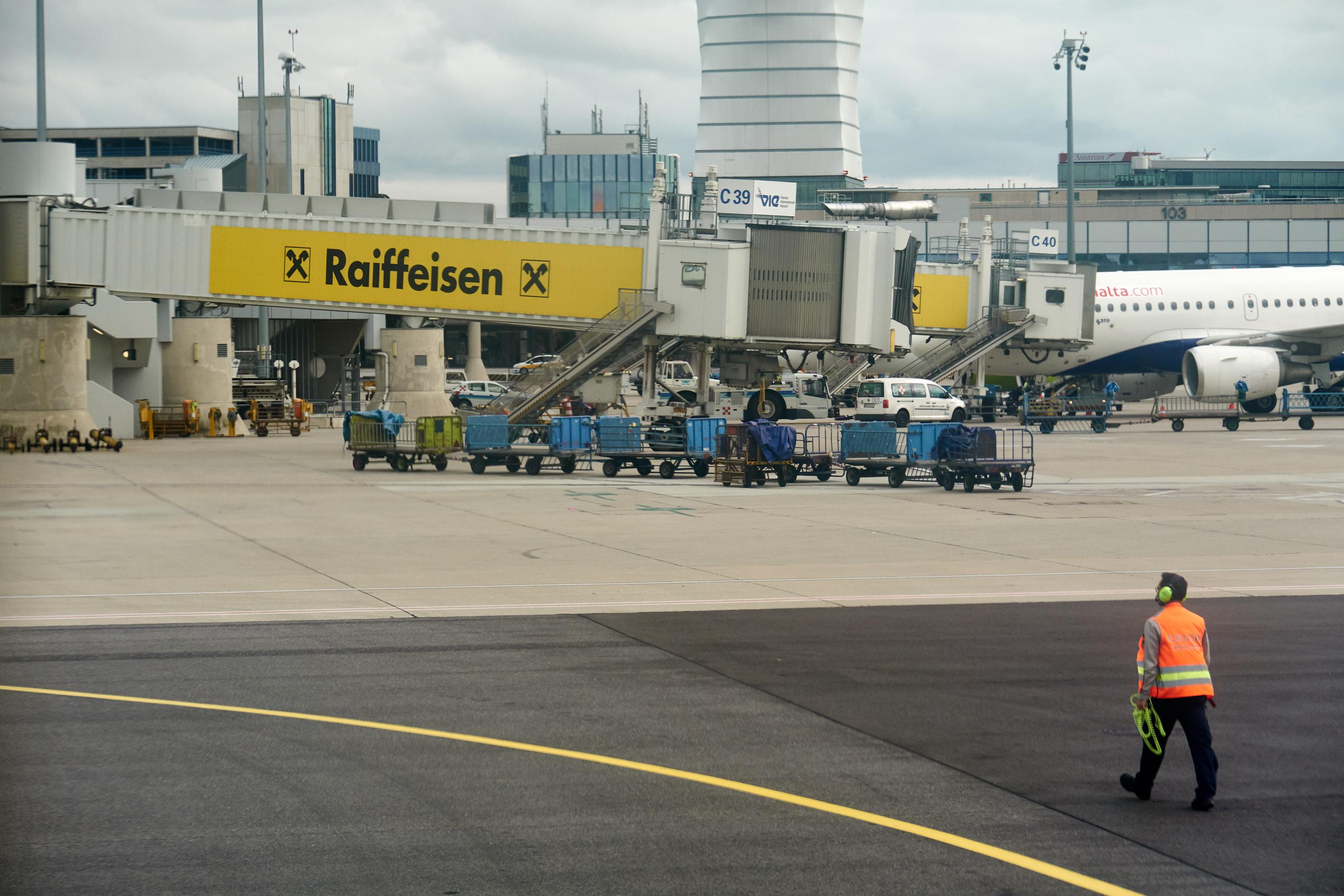 Worker at Vienna International Airport