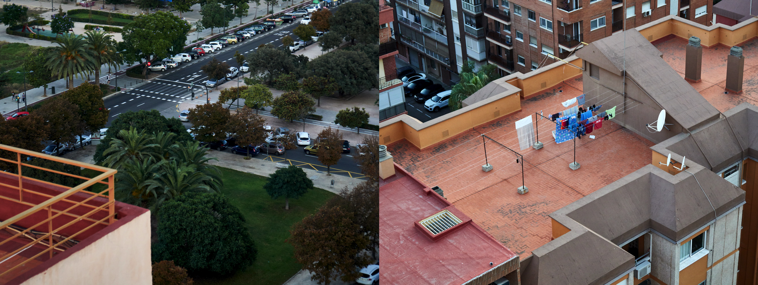 From our high building you can even look down on other roofs
