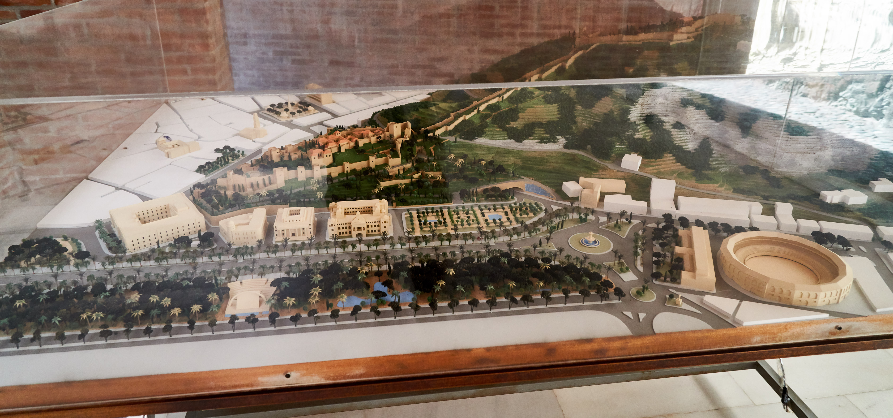 model of the Alcazaba fortress