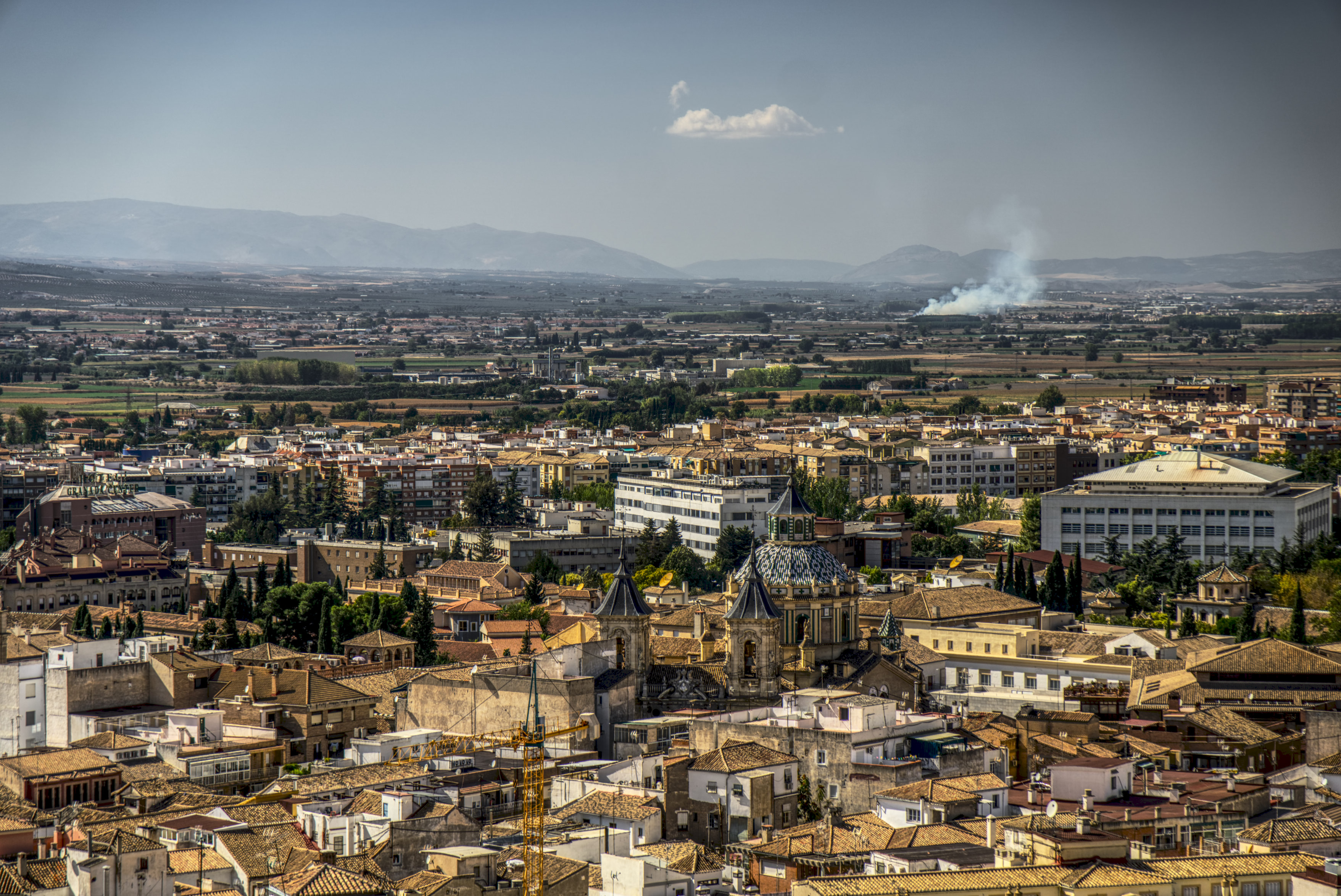 view on Granada using my tele-lense