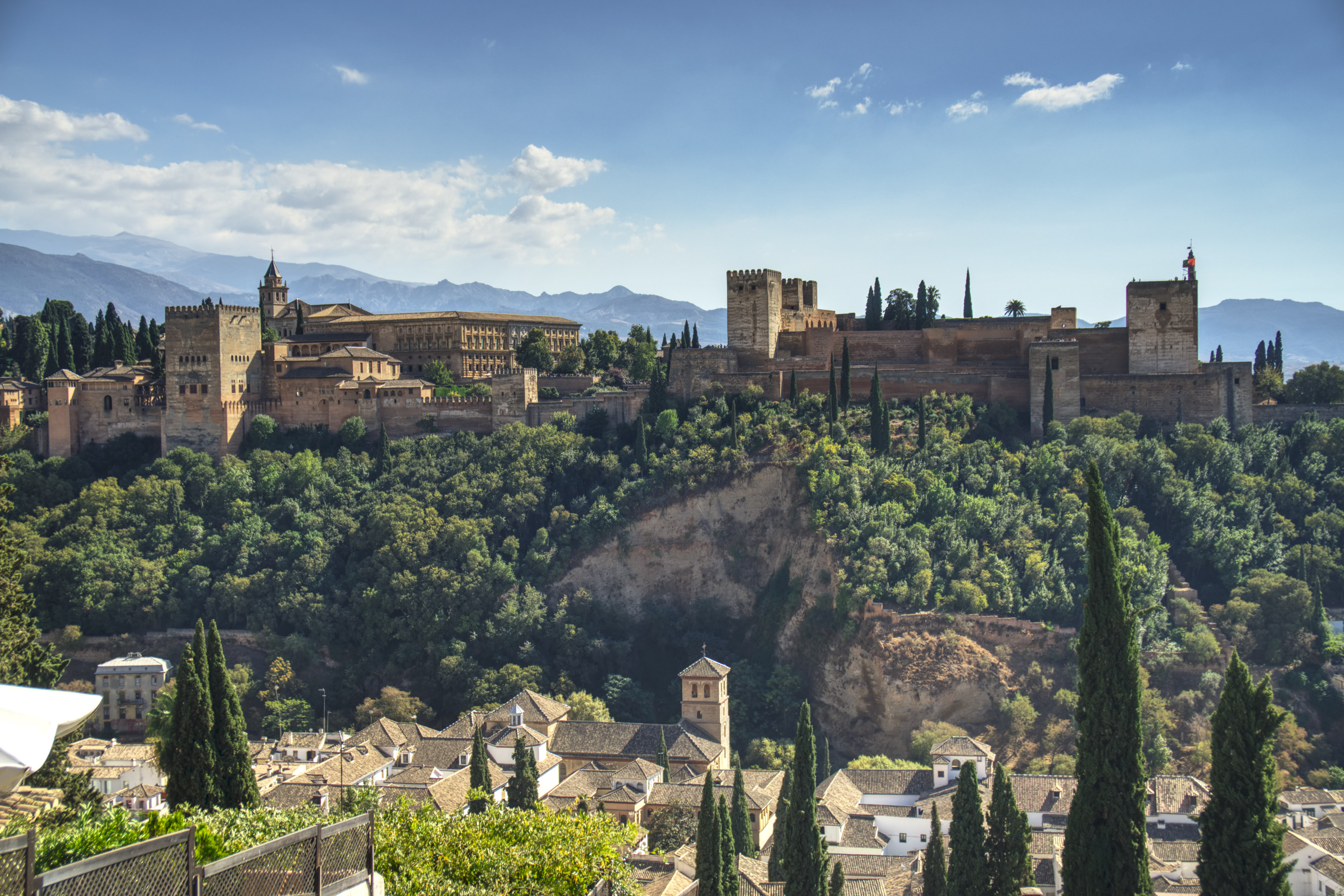 And the Alhambra itself, taken from Palaza de St. Nicolas
