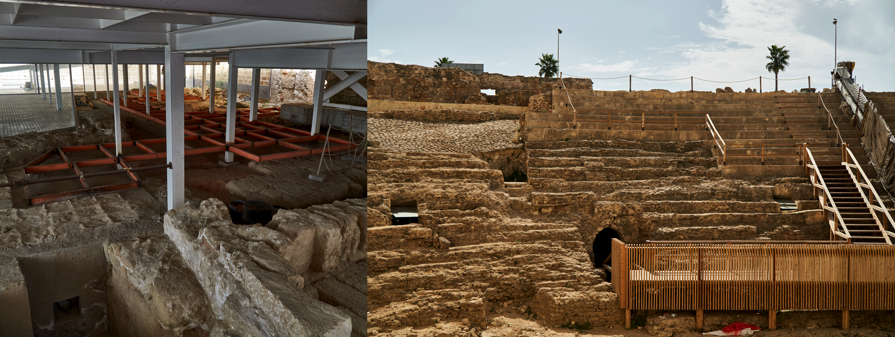 Phoenician buildings and parts of the roman theater