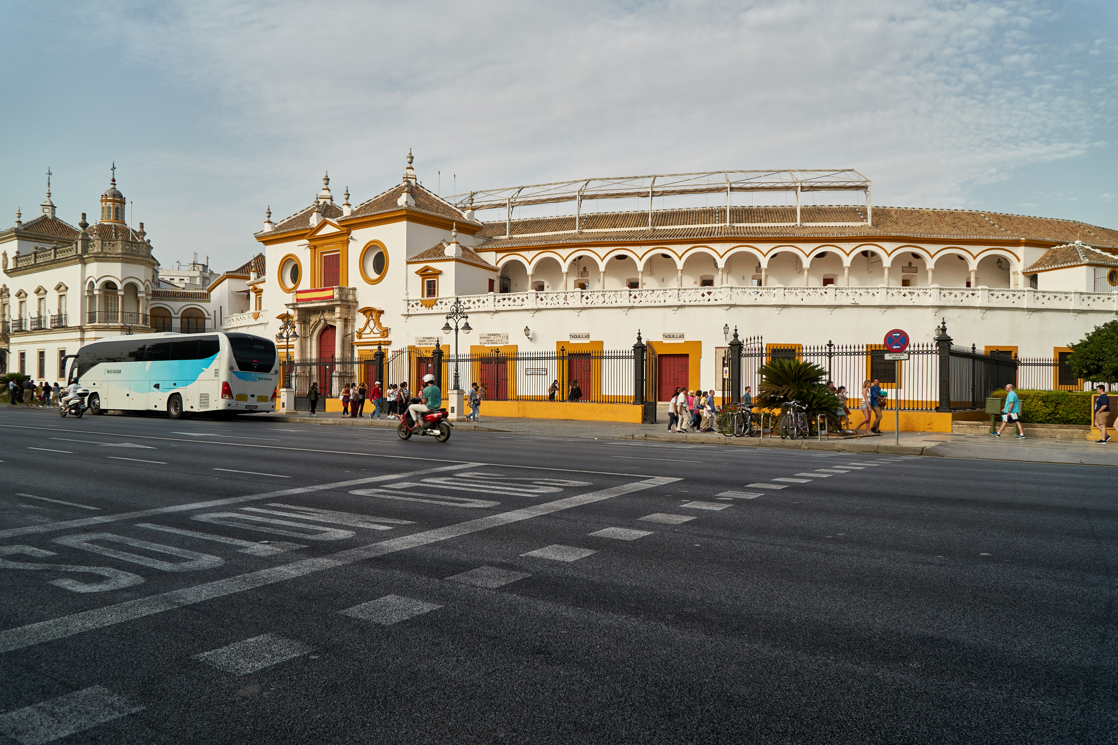 the big bullfight arena of Sevillia