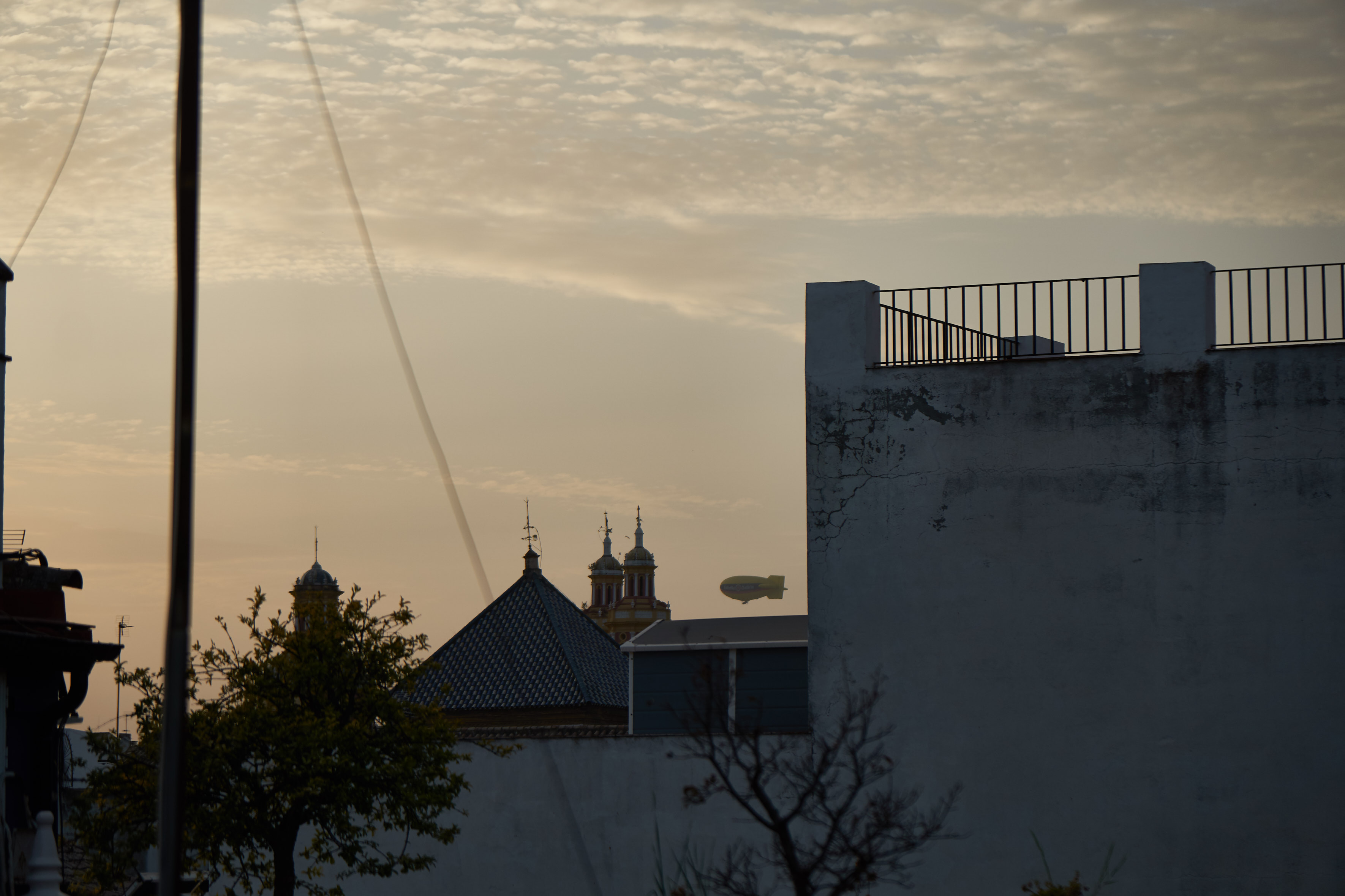 a zeppelin, as seen from our hostel