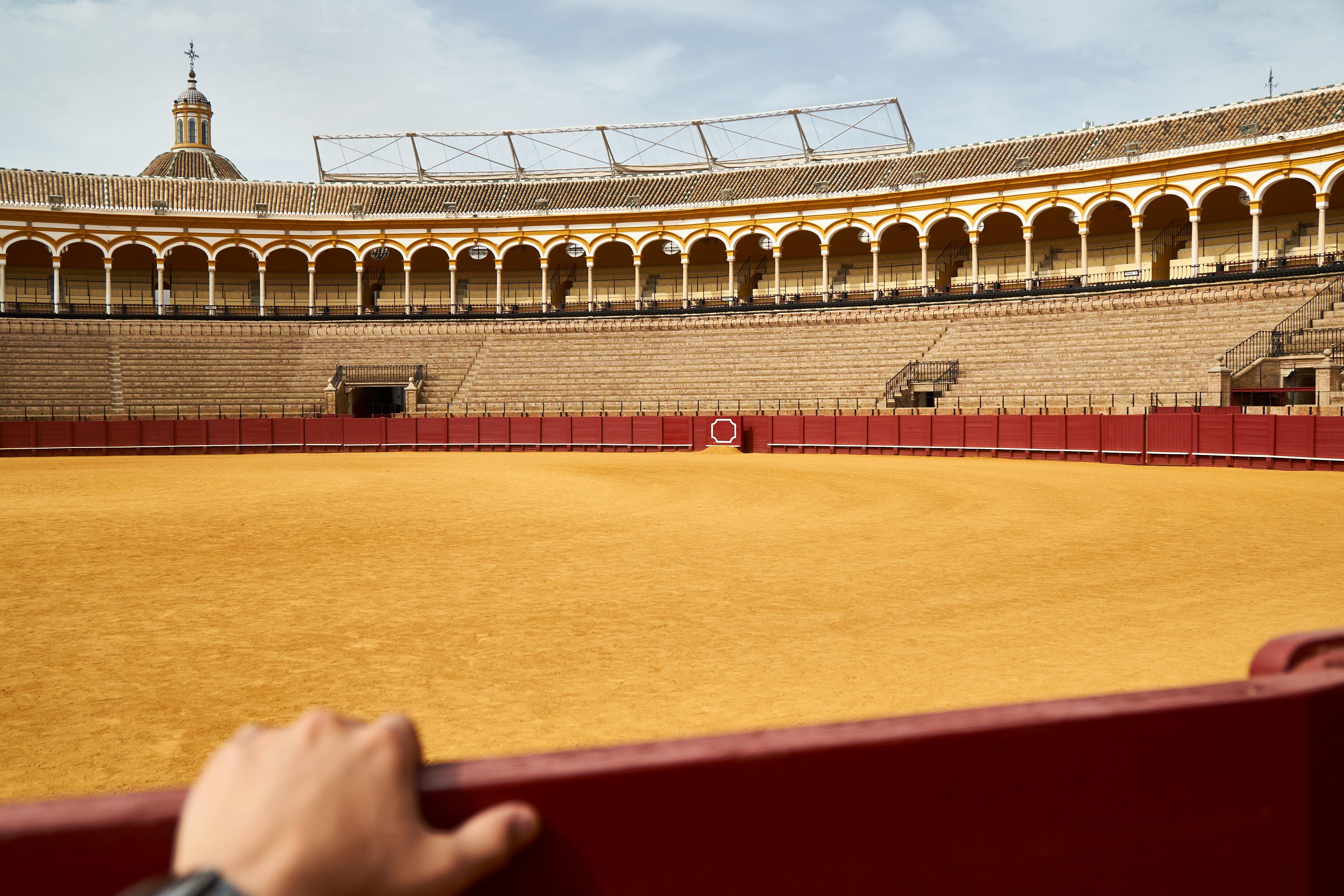 inside the plaza de torros