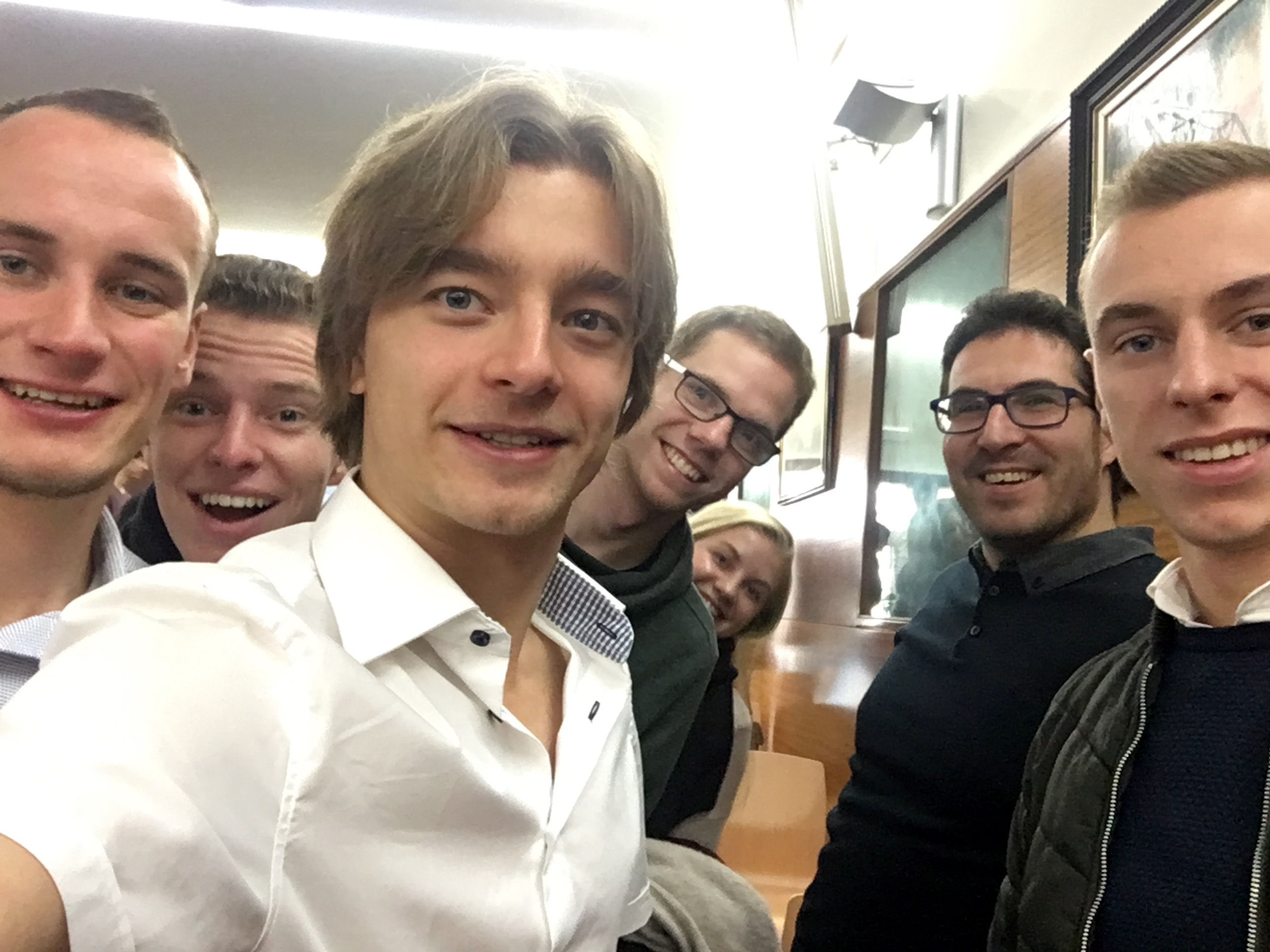 Selfie with the team after the final presentation