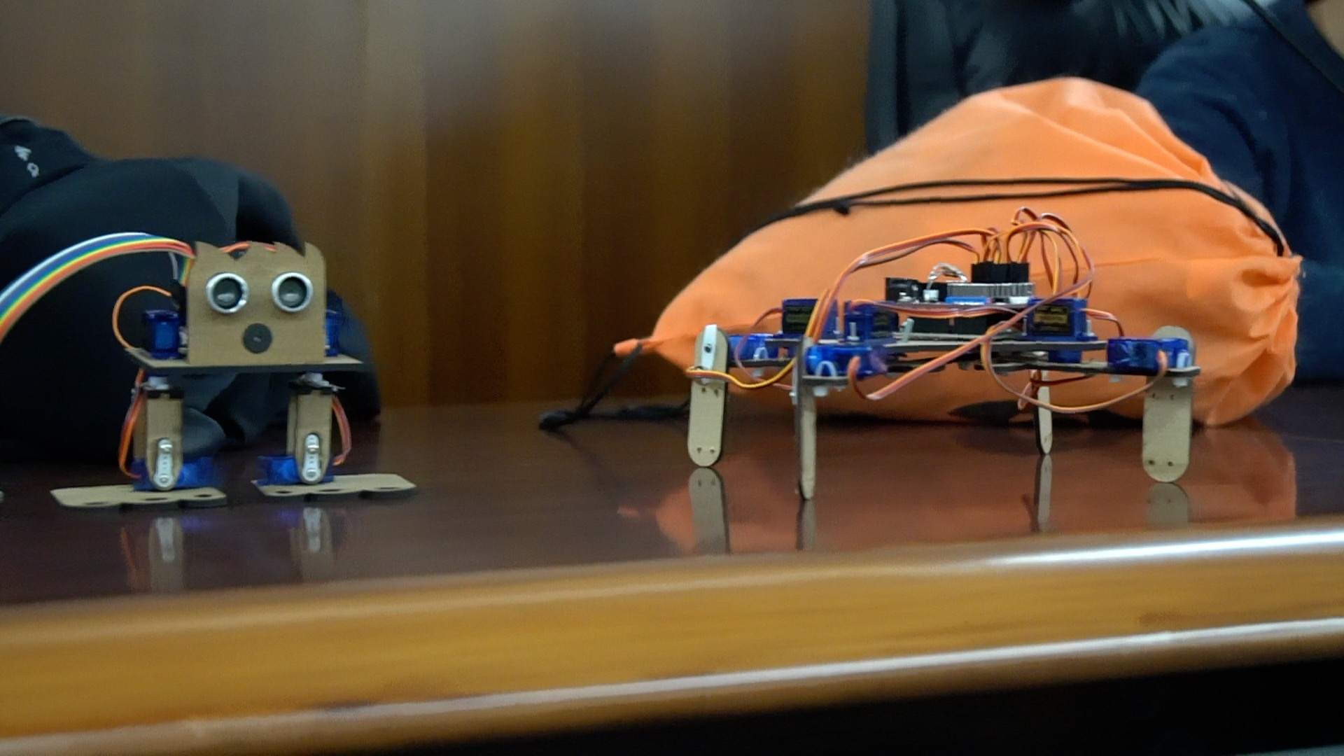 the robot prototypes ready for the presentation