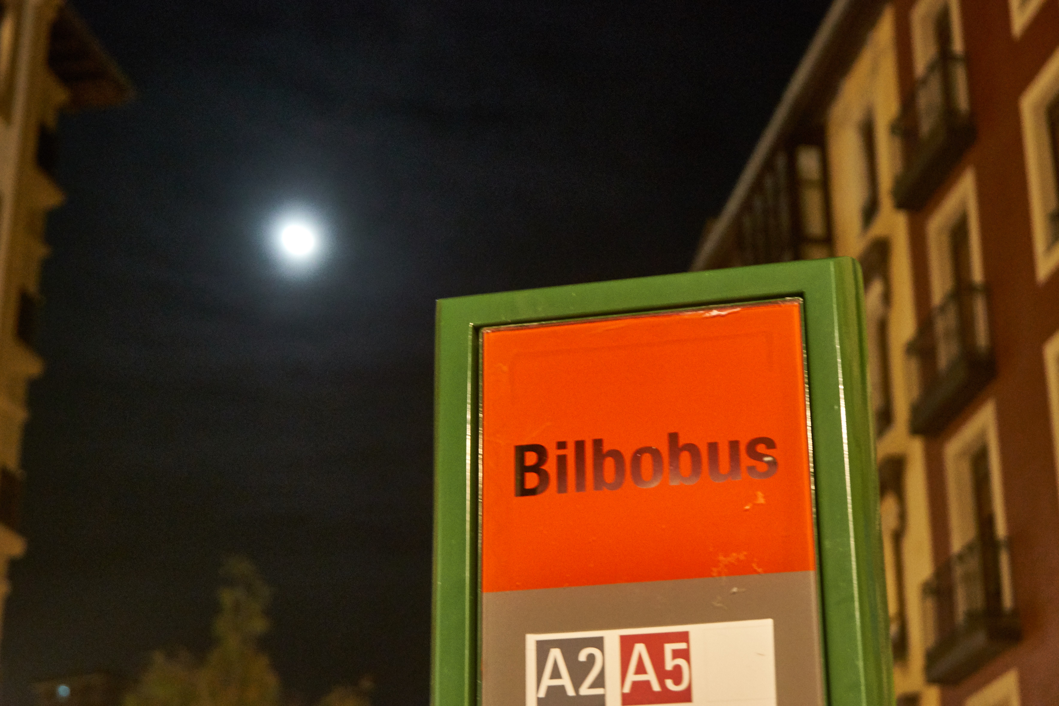 a stop of the Bilbobus