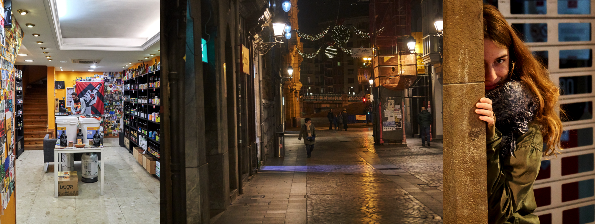 hipster drink shops in the streets of bilbao