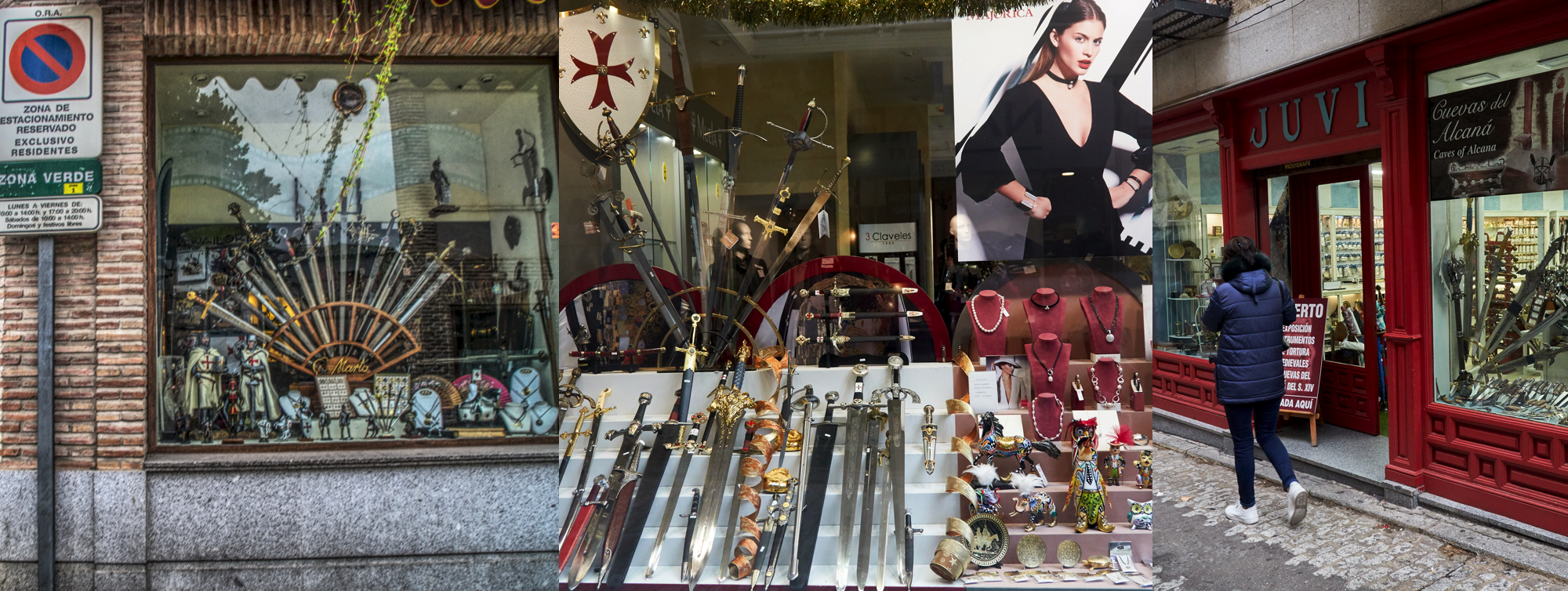 Many sword shops everywhere